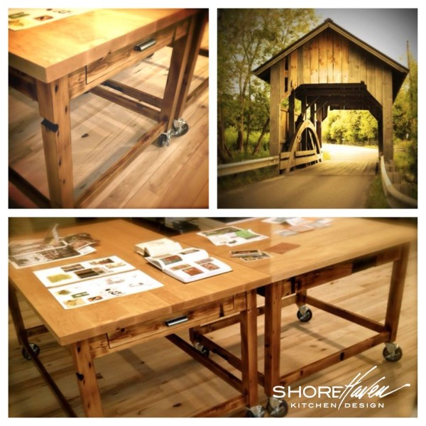 Manchester+Vermont+Reclaimed+Table+ShoreHaven+Kitchen+Design